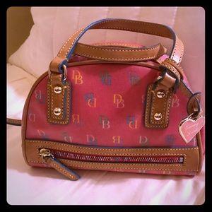 Vintage Dooney & Bourke Mini Rainbow Zip DB Bag